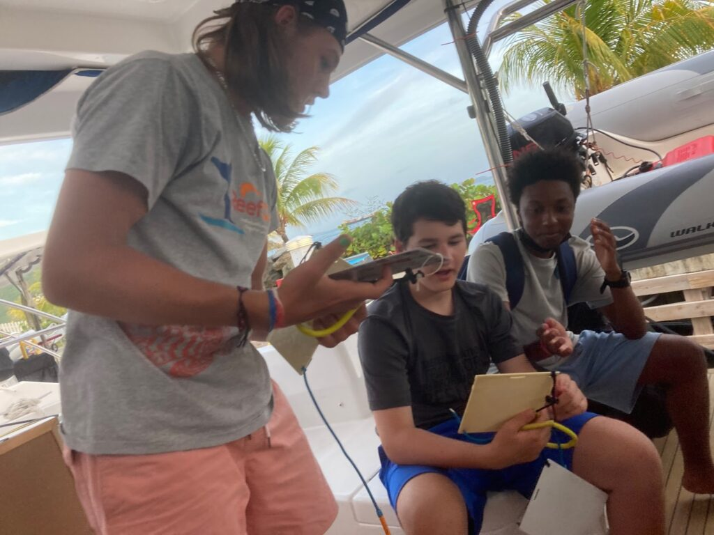 Reef fish identification marine science teaching at SeaTrek FATHOMS